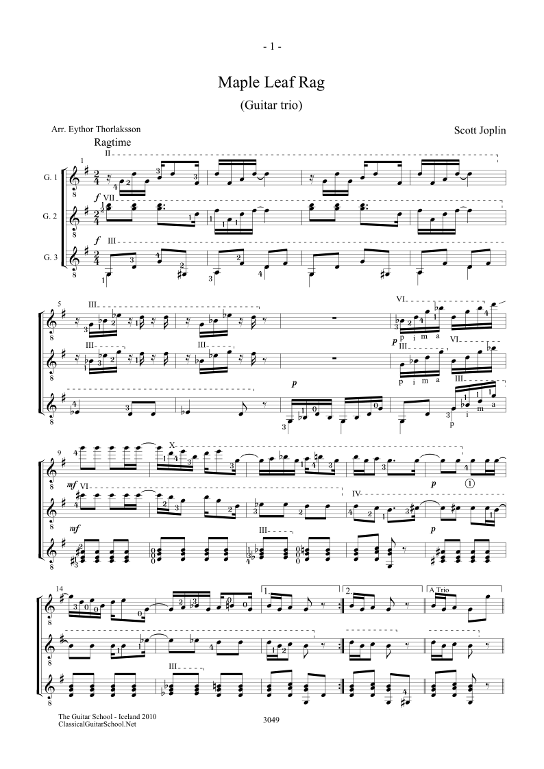 Scott Joplin Maple Leaf Rag The